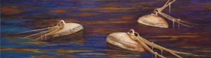 Boyas del Puerto (Acrílico sobre tela - 140 x 40)