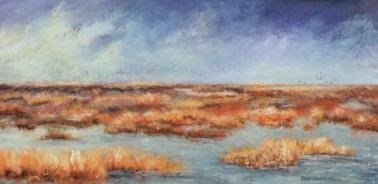 Pantanos del Delta (Acrílico sobre tela - 60 x 30)