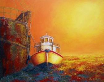 Amarras al Pasado (Acrílico sobre tela - 120 x 80)