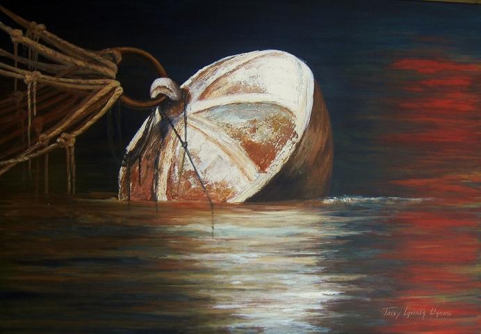 Ataduras I (Técnica mixta sobre tela - 120 x 80)