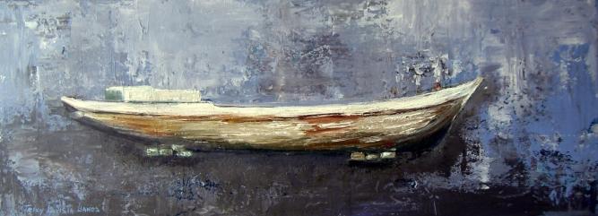 Casco Viejo (Técnica mixta sobre tela - 60 x 30)