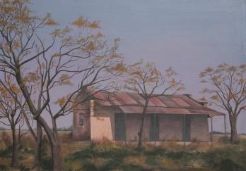 Rancho Entrerriano (Acrílico sobre tela - 100 x 60)