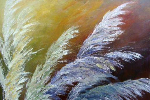 Viento en el Pantano (Técnica mixta sobre tela - 100 x 60)