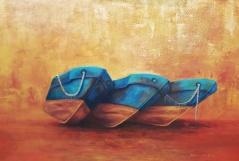 Encallados (Acrílico sobre tela - 100 x 70)