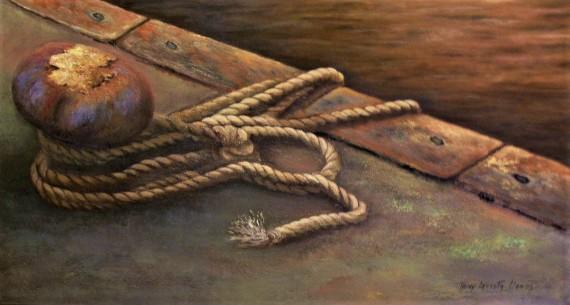 Bita del Puerto (Técnica mixta sobre tela - 110 x 60)